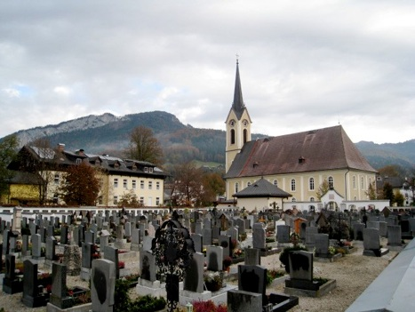 The Lutheran Cemetery in the village of Bad Goisern is the setting for